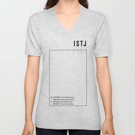 ISTJ Personality Type MBTI Function Stack Unisex V-Neck