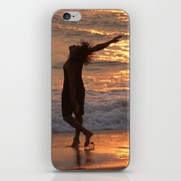 Dancing in the Surf at Sunset iPhone Skin