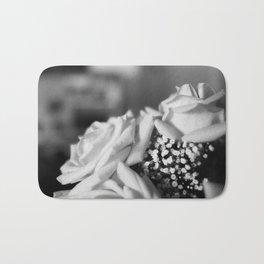 White Roses Bath Mat