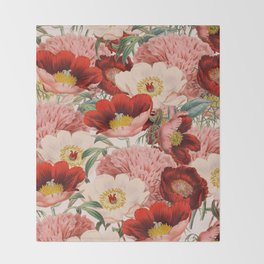Vintage Garden #society6 Throw Blanket