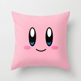 Kirby Face (Pink) Throw Pillow