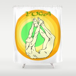 Yoga: asana Shower Curtain