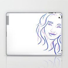 Blue Portrait Laptop & iPad Skin