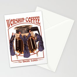 Worship Coffee Stationery Cards