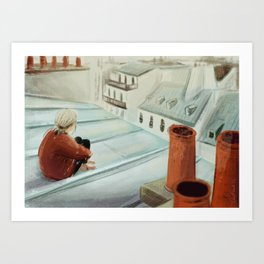 From the roof Art Print