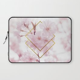Cherry Blossoms Geometry Laptop Sleeve
