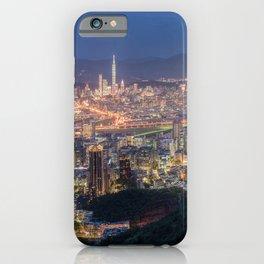 Taiwan Megapolis Taipei Evening Houses Cities megalopolis Building iPhone Case