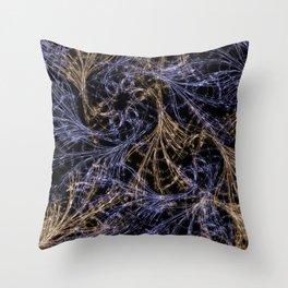 Blue Magical Wisps Throw Pillow
