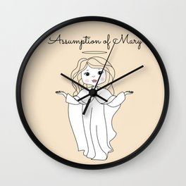 Assumption of Mary - Mary on Heaven - Our Lady of the Navigators Wall Clock
