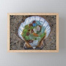 Beach Finds Framed Mini Art Print
