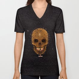 Honey Skull Unisex V-Neck