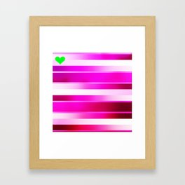 Green Heart Framed Art Print