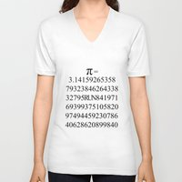 pi V-neck T-shirts featuring Pi by Anton Nikulin