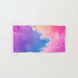 Colorful Abstract Waves Background Hand & Bath Towel