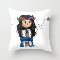 thorin Throw Pillows featuring Thorin by marvelsoo