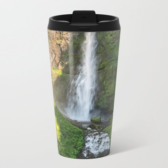 Multnomah Falls Oregon Metal Travel Mug