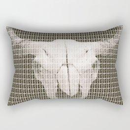 Bovine Skull - Black Rectangular Pillow
