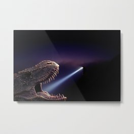 T-rex at the dentist by GEN Z Metal Print