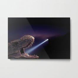 T-rex at the dentist by GEN Z Metal Print