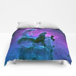 Nebula Purple Blue Pink Comforters