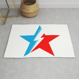 BOWIE - Star of David (white) Rug