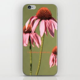 Coneflower couples iPhone Skin