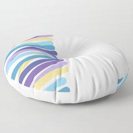 Side multicolor lines Floor Pillow
