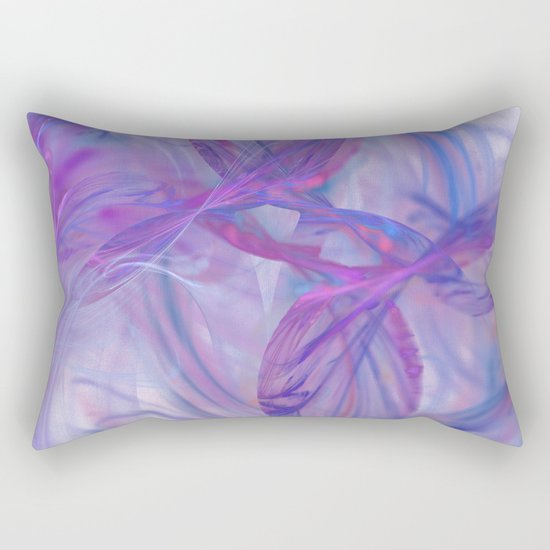 blue love Rectangular Pillow
