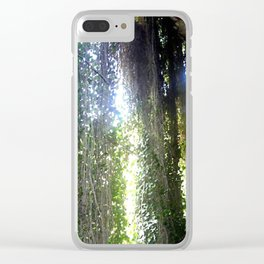 Vines camouflaging a sunken Cave Clear iPhone Case