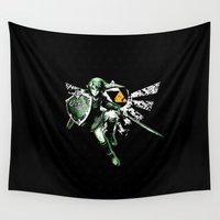 triforce Wall Tapestries featuring Triforce of Courage by Domadraghi