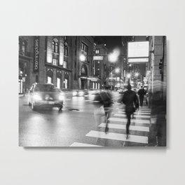 Night Blur Metal Print