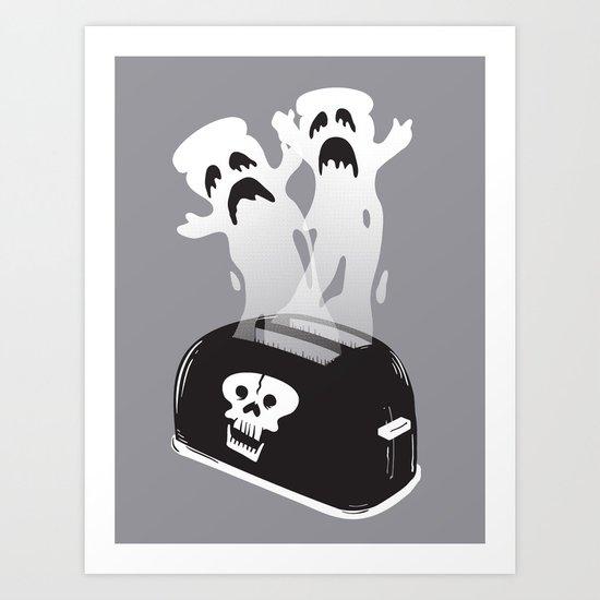 Ghost Toast Art Print