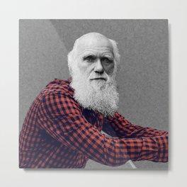 Hipster Darwin Metal Print