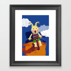 Scooter riding Framed Art Print