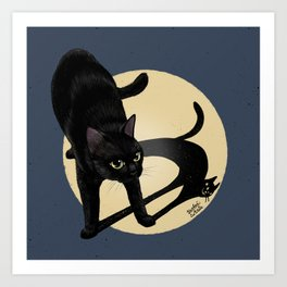 Naughty shadow Art Print
