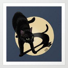 Naughty shadow Art Print