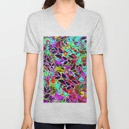 Floral Abstract Artwork G128 Unisex V-Neck