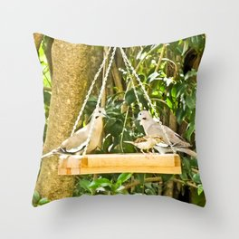 Dove Dining Throw Pillow