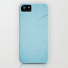 photo with damaged wall texture in soft blue tone ready for art, fashion, furniture, iphone cases iPhone Case