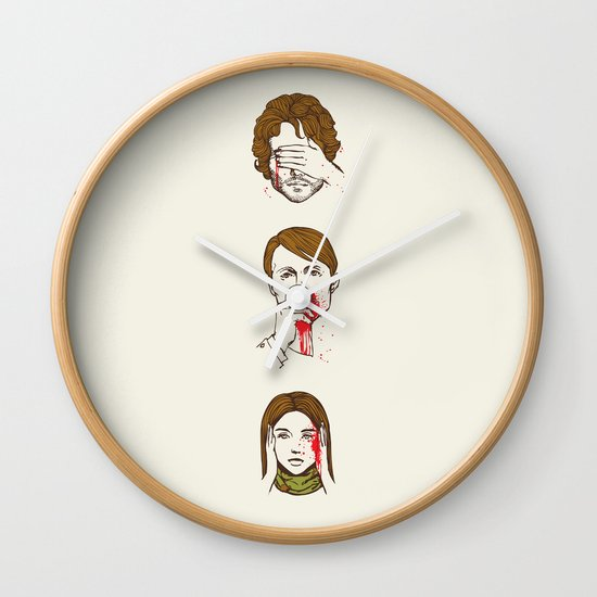 No Evil Hannibal Wall Clock
