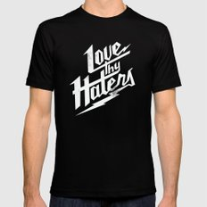 Love Thy Haters - White Black Mens Fitted Tee MEDIUM