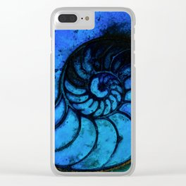 Nautilus Shell No. 987 by Kathy Morton Stanion Clear iPhone Case