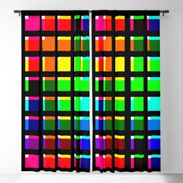 Crossing Color Bars Blackout Curtain