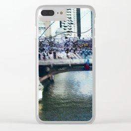 Light Bridge - Light Painting Clear iPhone Case