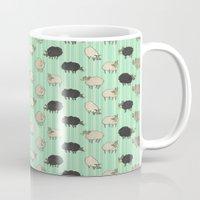 sheep Mugs featuring Sheep by sheena hisiro