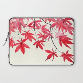 red maple leaves watercolor painting Laptop Sleeve