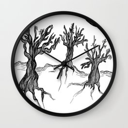 Olive Trees Wall Clock