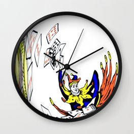 Distorted Joker Wall Clock