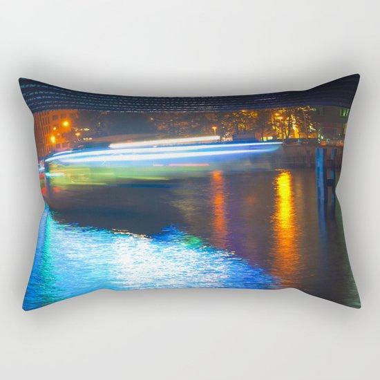 Floating Aqua Lighting Rectangular Pillow