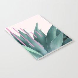Agave geometrics II - pink Notebook